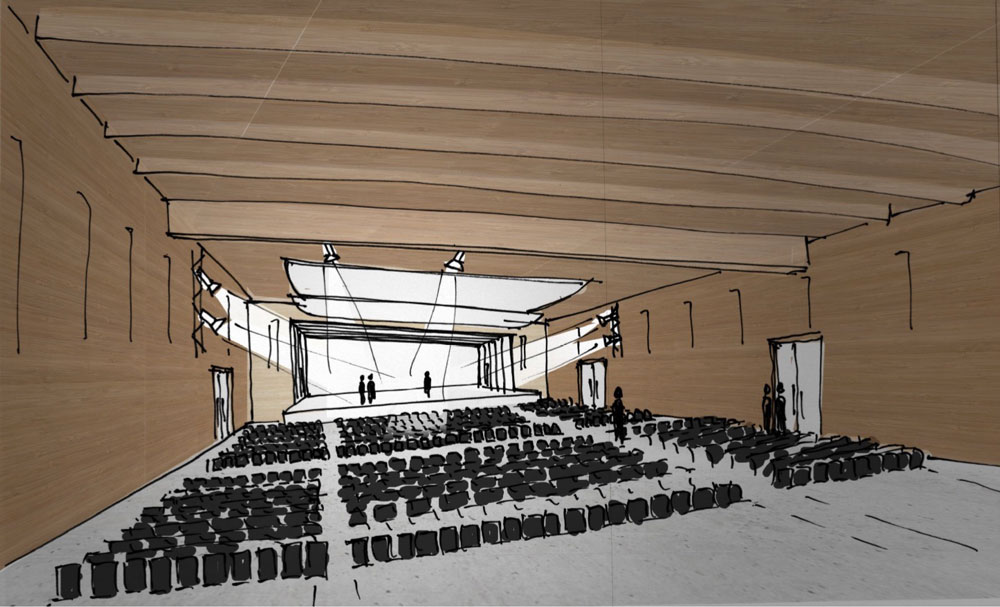 Bürgerstiftung Bocholt Schützenhaus Skizze Saal