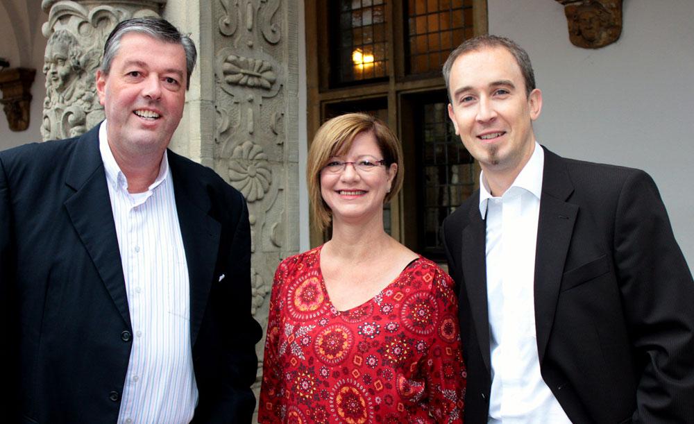 Der designierte Vorstand der Bürgerstiftung Bocholt mit (von links) Marcus Suttmeyer (Vorsitz), Petra-Maria Bröcker (Büroorganisation) und Kai Enck (Finanzen und Kommunikation)